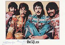 George Martin Beatles authentic genuine signed autograph image, A 15cm x 10
