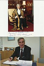 Political Collection 14 signed photos, letters signed by famous political f