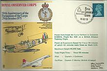 Concorde Royal Observer Corps 50th Anniversary dated 29th October 1975 Good