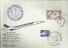 Concorde Paris-Strasbourg First Flight dated 27th June 1981 Good condition