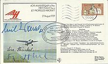 Multi signed Jet Pioneers FF11 40th Anniversary of the First Flight of a Je