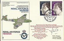 Grp Cpt H.J. Wilson signed RAF Hendon official Royal Wedding FDC cat £50 co