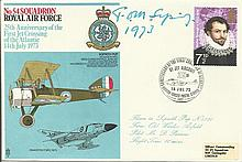 Sir Tom Sopwith signed No54 Squadron cover 25th ann of the First Jet Crossi