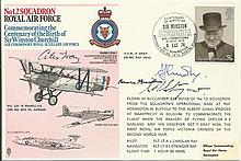 Wing Cmdr Norman Macmillan, Great War ace Air Vice Marshal A. Gray signed R