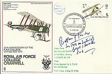 Balfour of Inchrye Great War ace signed RAF Cranwell cover 50th ann of the