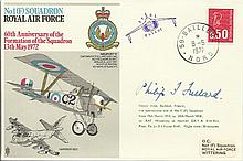 Phillip Fullard Great War ace signed RAF No1 Squadron cover 60th ann of the