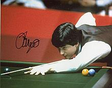 John Parrott - 8x10 inch photo hand signed by former Snooker world champion