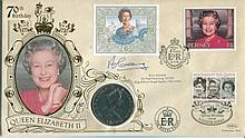 Benham signed FDC - Benham 70th birthday HM the Queen coin cover with Royal