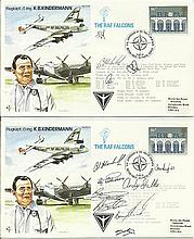 RAF test pilot cover flown collection 50+ covers. Good condition