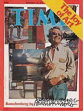 Robert Rauschenberg artist authentic autograph signed Time Magazine, A 21cm
