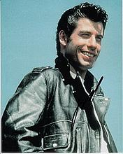 John Travolta 8x10 photo of John from Grease, signed by him at Tv Upfronts