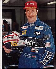 F1 Williams Nigel Mansell genuine authentic autograph signed photo, A 10 x