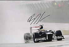 Bruno Senna Williams F1 genuine signed authentic autograph photo, A 30cm x
