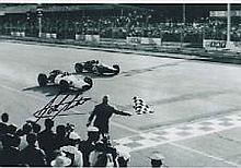 Honda John Surtees signed autograph photo, A 30cm x 20cm b/w photo of John