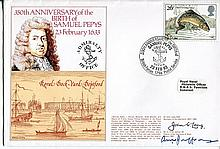 Royal Navy - Royal Navy series cover RNSC(3)21a 350th anniversary of Samuel