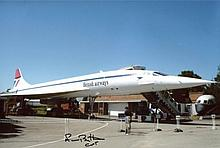 Concorde Pilot - 8x12 inch photo, a view of Concorde standing at rest, sign