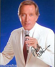 Andy Williams genuine signed authentic autographs photo, An 10 x 8 photo cl