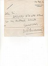 Lt Gen Sir William Riddell Birdwood Cdr ANZAC during the Gallipoli Campaign