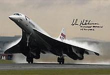 John Hutchinson pilot genuine signed authentic autograph Concorde, A 12 x 8