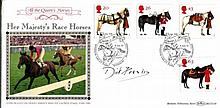 Dick Francis - Benham Horses FDC signed by author the late Dick Francis, fa