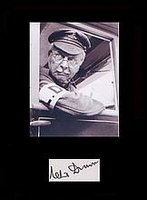 Dads Army - Clive Dunn. Signature with picture from Dads Army. Professional