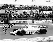 F1 John Watson McLaren signed authentic autograph photo, An 10 x 8 colour p