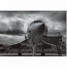 Concorde - 8x12 inch photo signed by former Concorde pilot Captain John Hut