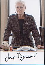 James Bond Dame Judi Dench. p/c picture of Dame Judi Dench in character fro
