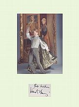Harry Potter - Kenneth Branagh Signature mounted with a picture in characte