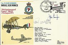 Nightfighter WW2 Ace 1973 51 Sqn RAF cover flown on a special flight in a C