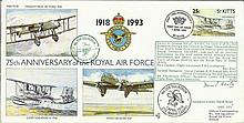Sql Ldr D Beaty DFC RAF(75)10 75th Anniversary of the RAF cover, flown in a