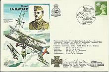 Major Hawker Historic Aviator cover signed by Lieut Col Hawker MC, brother