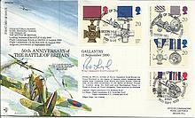 Wg Commander R A B Learoyd signed RFDC87 50th anniv of the Battle of Britai