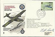35th Anniversary of the Sighting of the Bismarck cover signed by Capt. L.B.