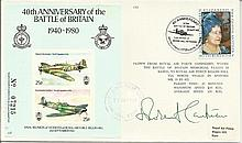 40th Anniversary of the Battle of Britain 1940-1980 cover signed by WWII Mi