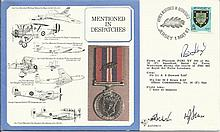 Mentioned in Despatches cover signed by WWII Victoria Cross winner Rod Lear
