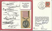 The Award of the Air Force Medal cover signed by WWII Victoria Cross winner