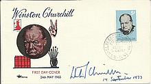 Winston Churchill MP signed and dated 1965 Churchill Prime Minister cover.