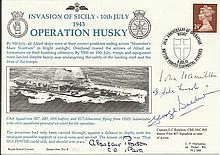 Capt George Baldwin DSC WW2ace, Brig Alastair Pearson, Ad John Hamiton sign