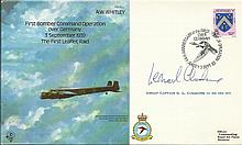 Leonard Cheshire signed First Bomber command operation cover. Good conditio