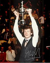 Snooker legend Steve Davis signed colour 8x10 photograph. Silver signature.