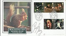 David Bellamy signed National Trust Brownsea Island FDC. Good condition