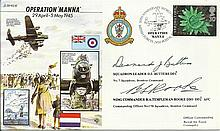 Sqn Ldr D Butters DFC*, Wg Cdr Templeman Rooke DSO DFC signed Operation Man