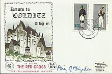 Lady Airey of Abingdon signed Red Cross Return to Colditz Castle cover. Goo