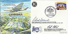 Wg Cdr Roland Beamont DSO DFC & Wg Cdr G Telford signed Canberra  Planes an