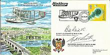 Flt Lt Bill Reid VC & Sqn Ldr A Smtih signed Perth Planes and Places cover,