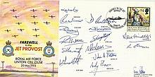 Multi signed Farewell to the Jet Provost cover. Good condition