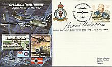 Grp Cptn T G Mahaddie signed JS50/42/6 Operation Millennium cover. Good con