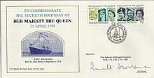 Vice Admiral Sir Ronald Brockman signed cover To Commemorate the 60th Birth