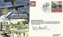 Mjr John Howard DSO signed Operation Overlord Airborne Forces cover JS(AC)8